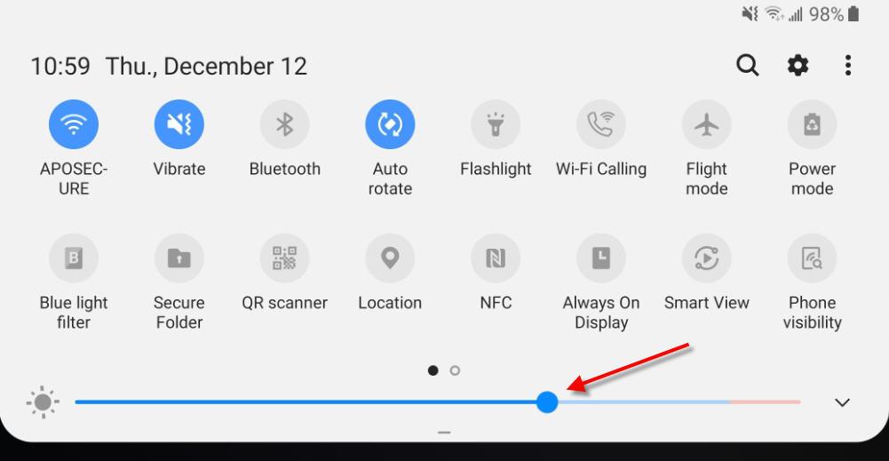 increase screen brightness amazon video