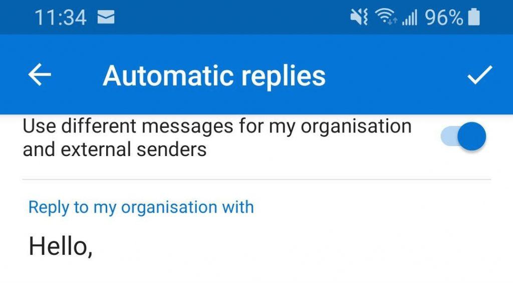 automatic replies options