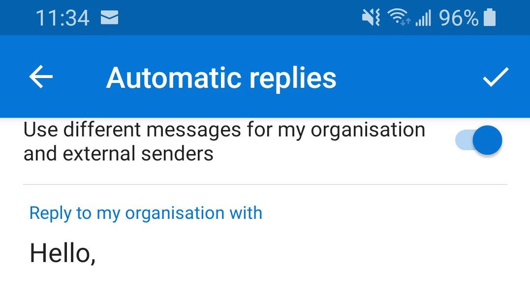 automatic replies options